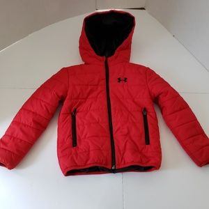 Red Under Armour Youth Kids 5 Puffer Jacket Red